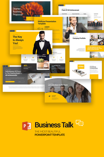 Business Talk PowerPoint Template #70847
