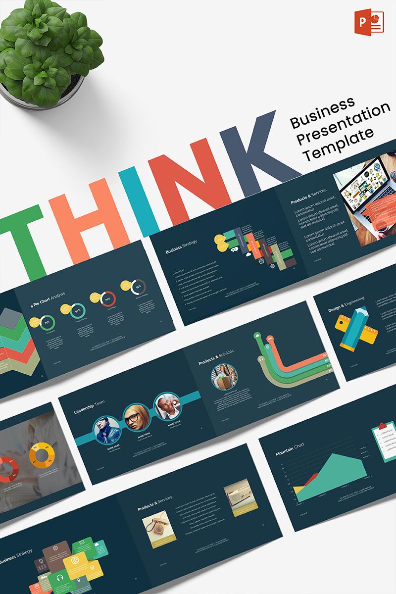 """Business Think"" modèle PowerPoint  #70863"