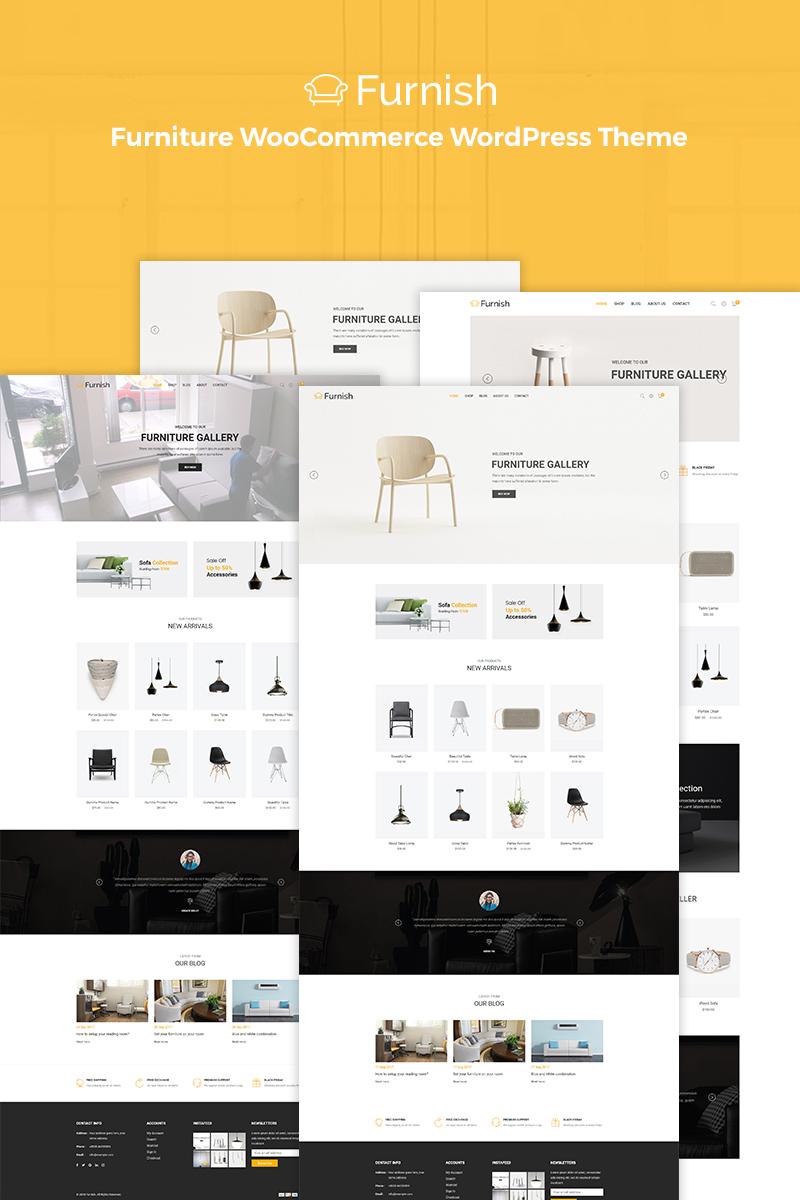 """Furnish - Minimal Furniture"" Responsive WooCommerce Thema №70829"