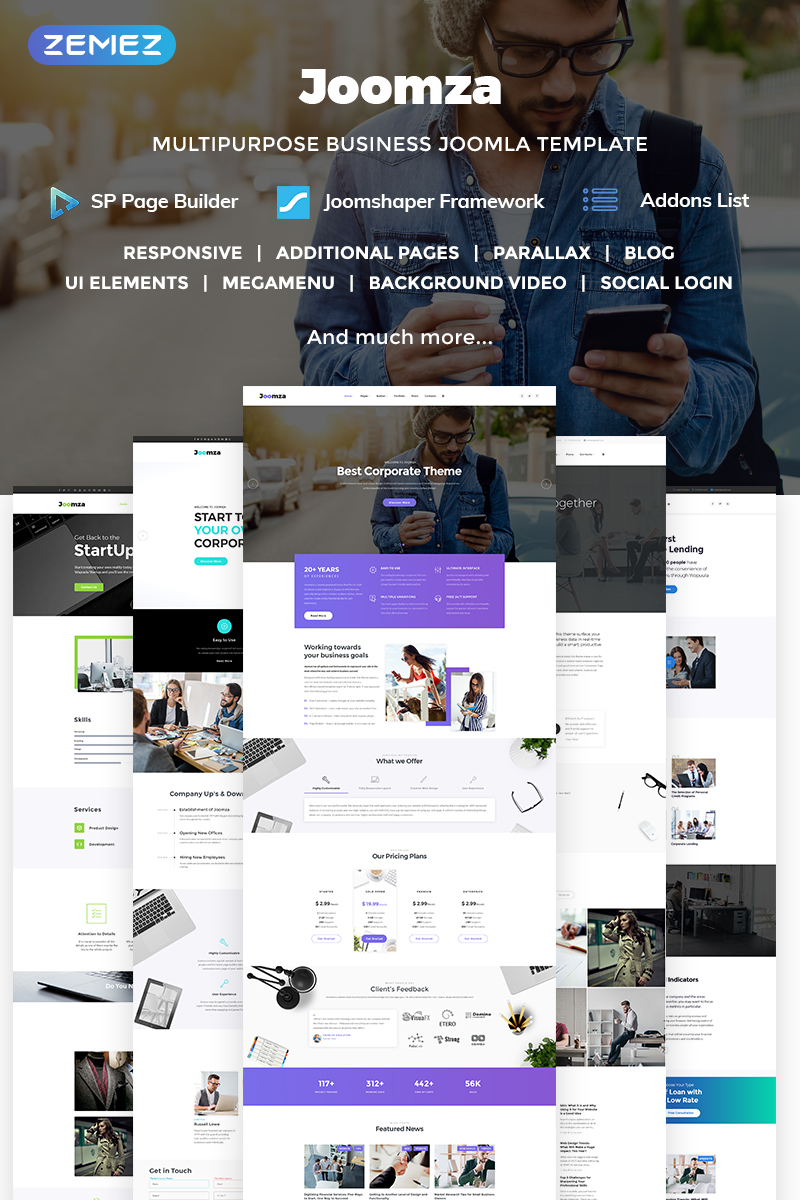 Joomza - Business Joomla Template