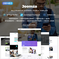 Joomla templates for business directory template monster joomza business joomla business directory template wajeb Choice Image