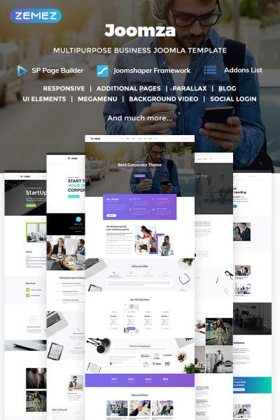 Joomza - Business Joomla Template #70821