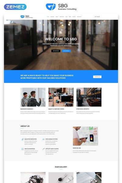Responsywny szablon Landing Page SBG - Business Consulting HTML #70801 #70801