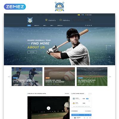 Responsywny szablon strony www #70848 na temat: baseball