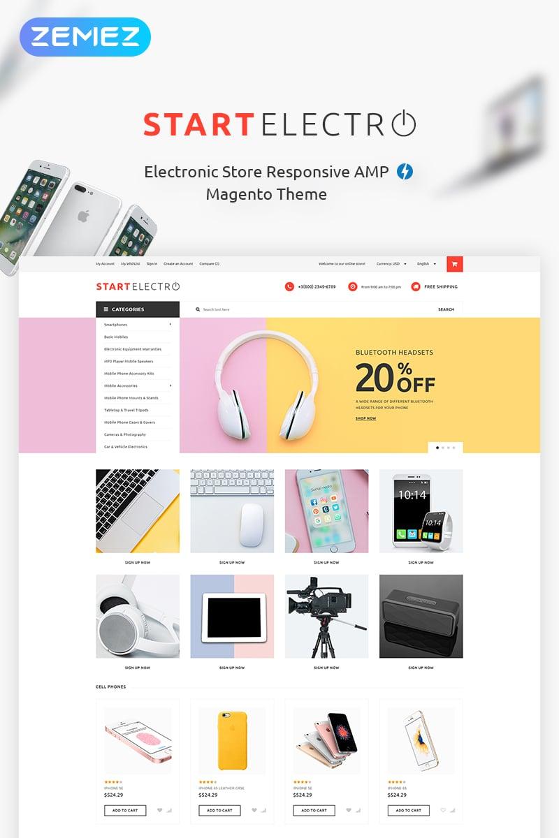 """StartElectro - Electronics Store"" - адаптивний Magento шаблон №70832"