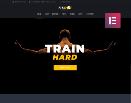 FitSpot - Fitness Studio Elementor WordPress Theme