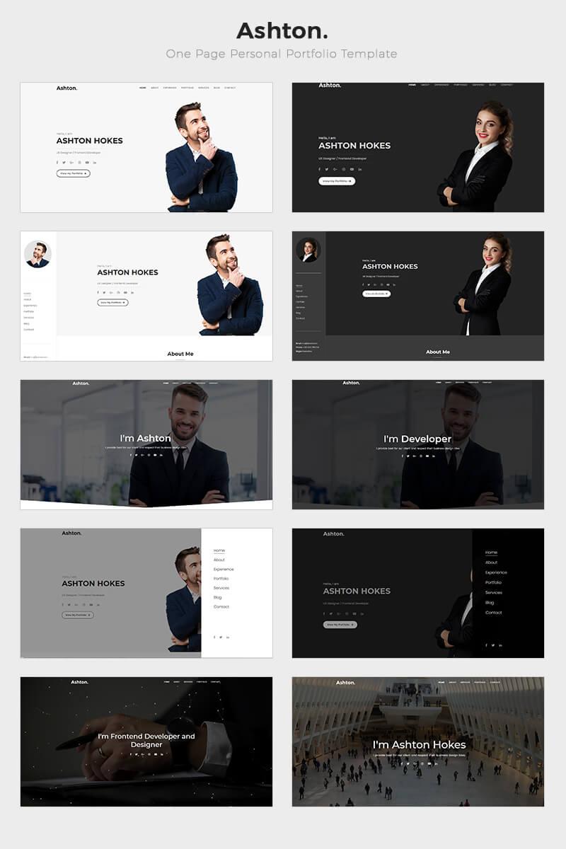 Ashton - One Page Portfolio Landing Page Template