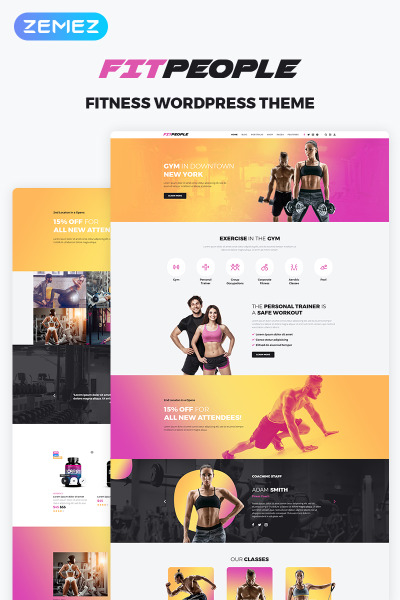Flexível tema WordPress №70968 para Sites de Fitness