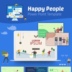 Powerpoint templates charity themes template monster happy people infographic charity powerpoint presentation template toneelgroepblik Choice Image