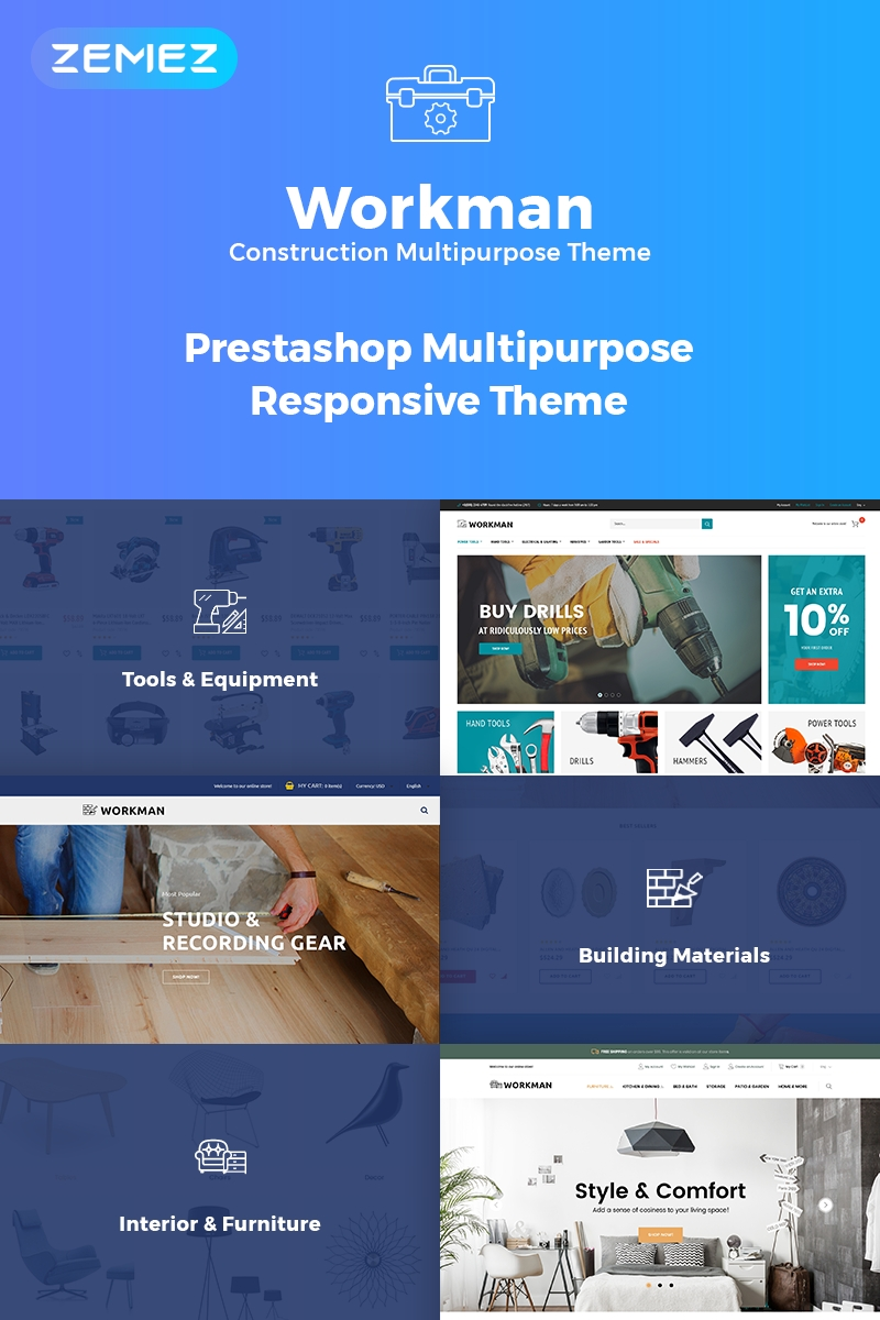 Workman - Construction Multipurpose PrestaShop Theme