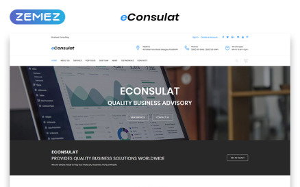 eConsulat - Solid Business Company HTML Landing Page Template
