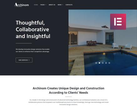 Archinom - Architect Elementor WordPress Theme