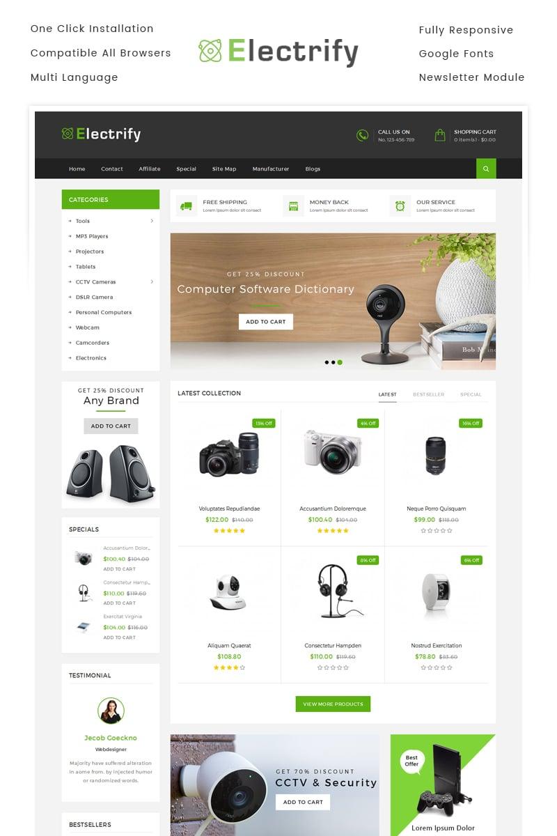 Website Template #71018 Digital Electronics Mobile Custom