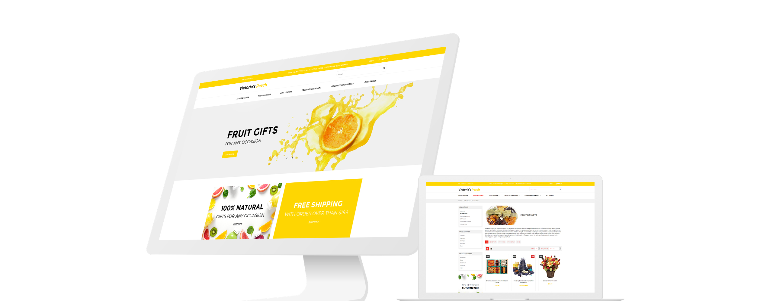 Website Design Template 71026 - sweets souvenir store