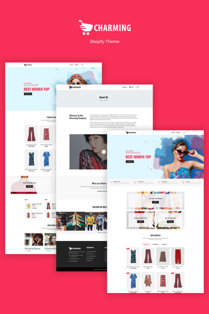 Website Design Template 71060 - elegant fashion hat store watch shopify sections responsive theme bootstrap modern shopping online technology multipurpose