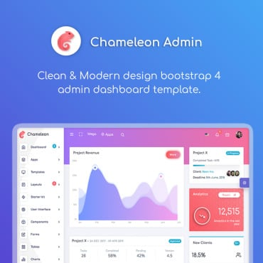 Preview image of Chameleon - Modern Bootstrap 4 WebApp & Dashboard HTML + UI Kit