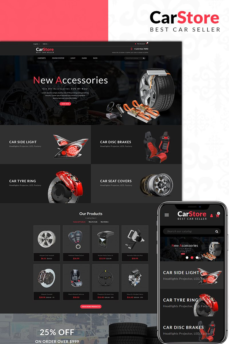 Car Store PrestaShop Theme