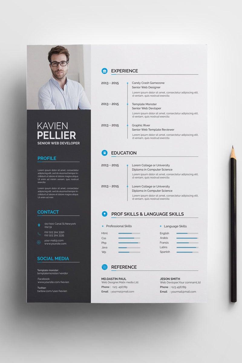 Clean and Creative Kavien Pellier Resume #71008 - Ekran resmi