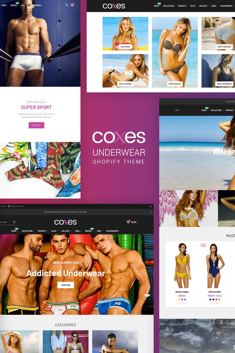 """""""Coxes - Underwear"""" Shopify模板 #71029"""