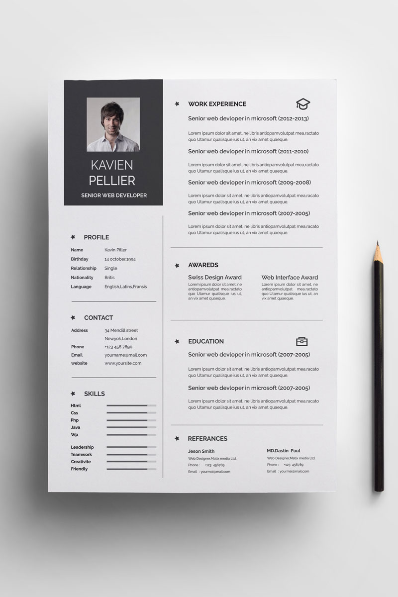 Kavin Resume Template  71009