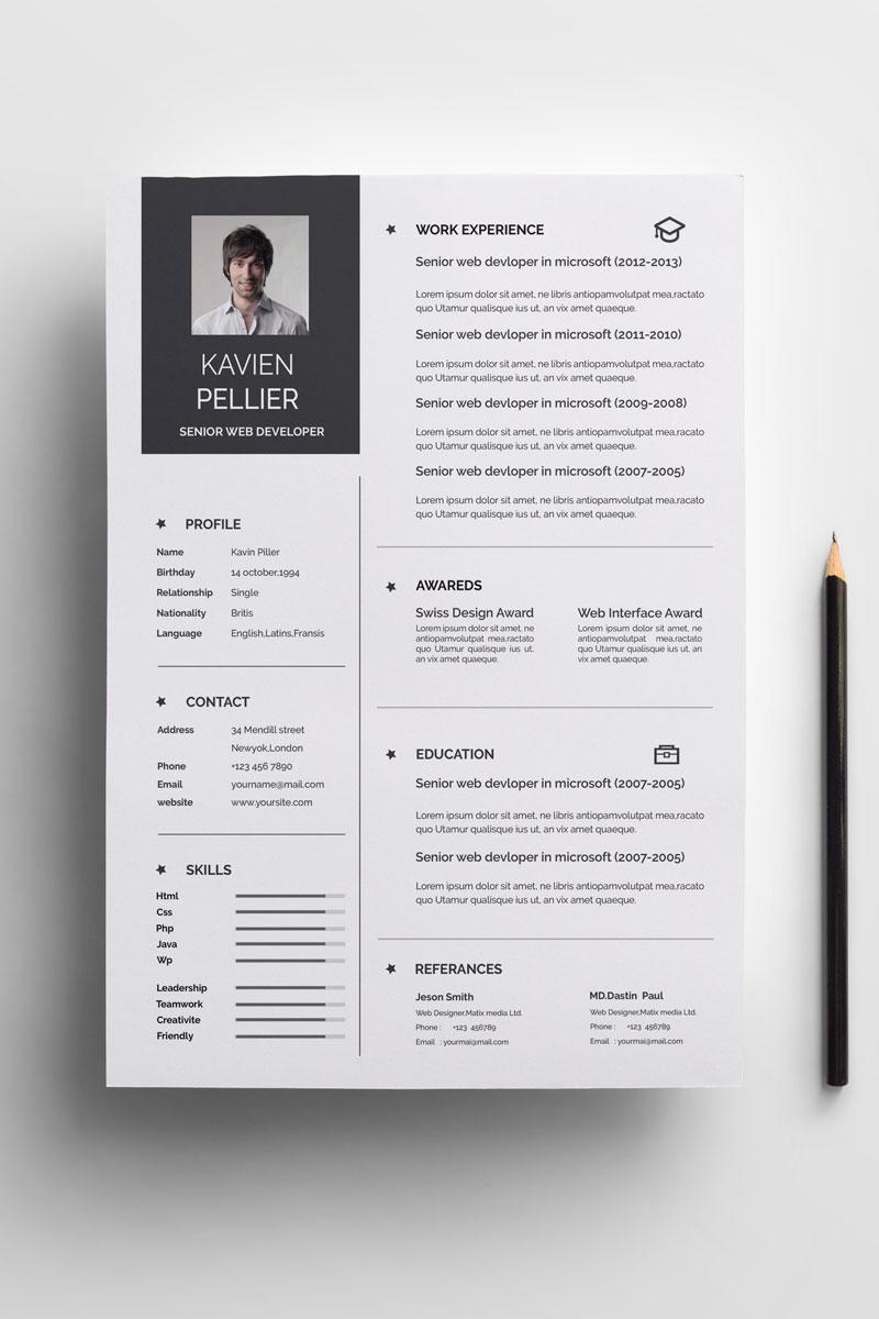 Kavin Resume Template - screenshot