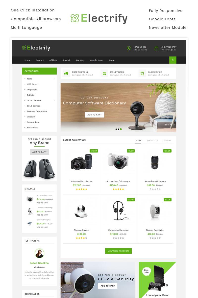 "OpenCart Vorlage namens ""Electrify Digital Store"" #71018"