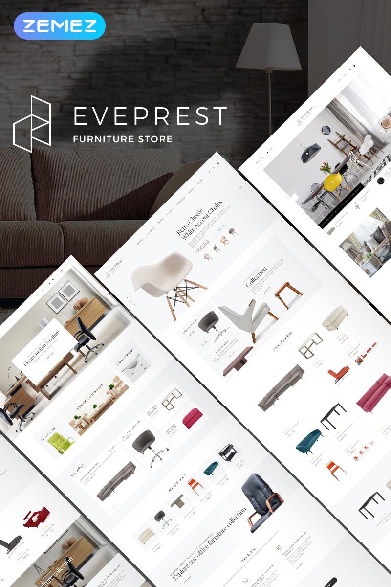 "PrestaShop Theme namens ""Eveprest Furniture 1.7 - Furniture Store"" #71097"