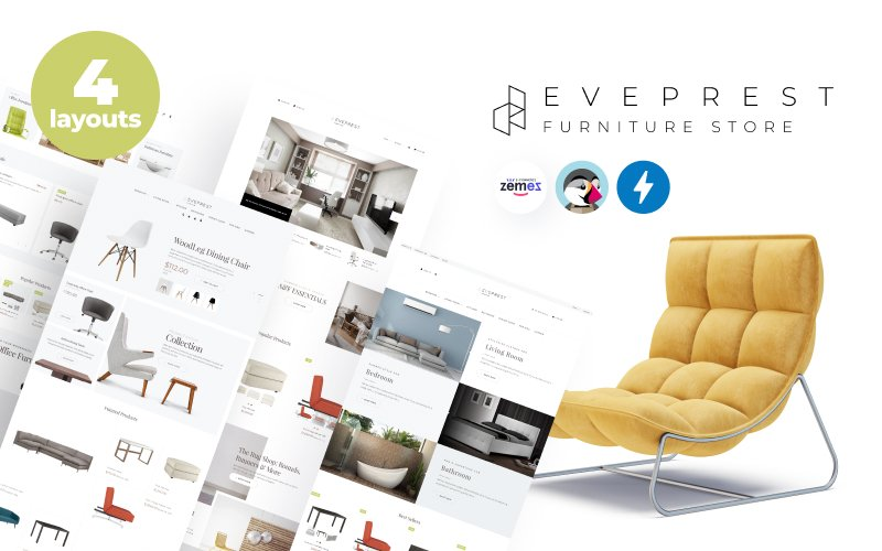 Responsivt Eveprest Furniture 1.7 - Furniture Store PrestaShop-tema #71097