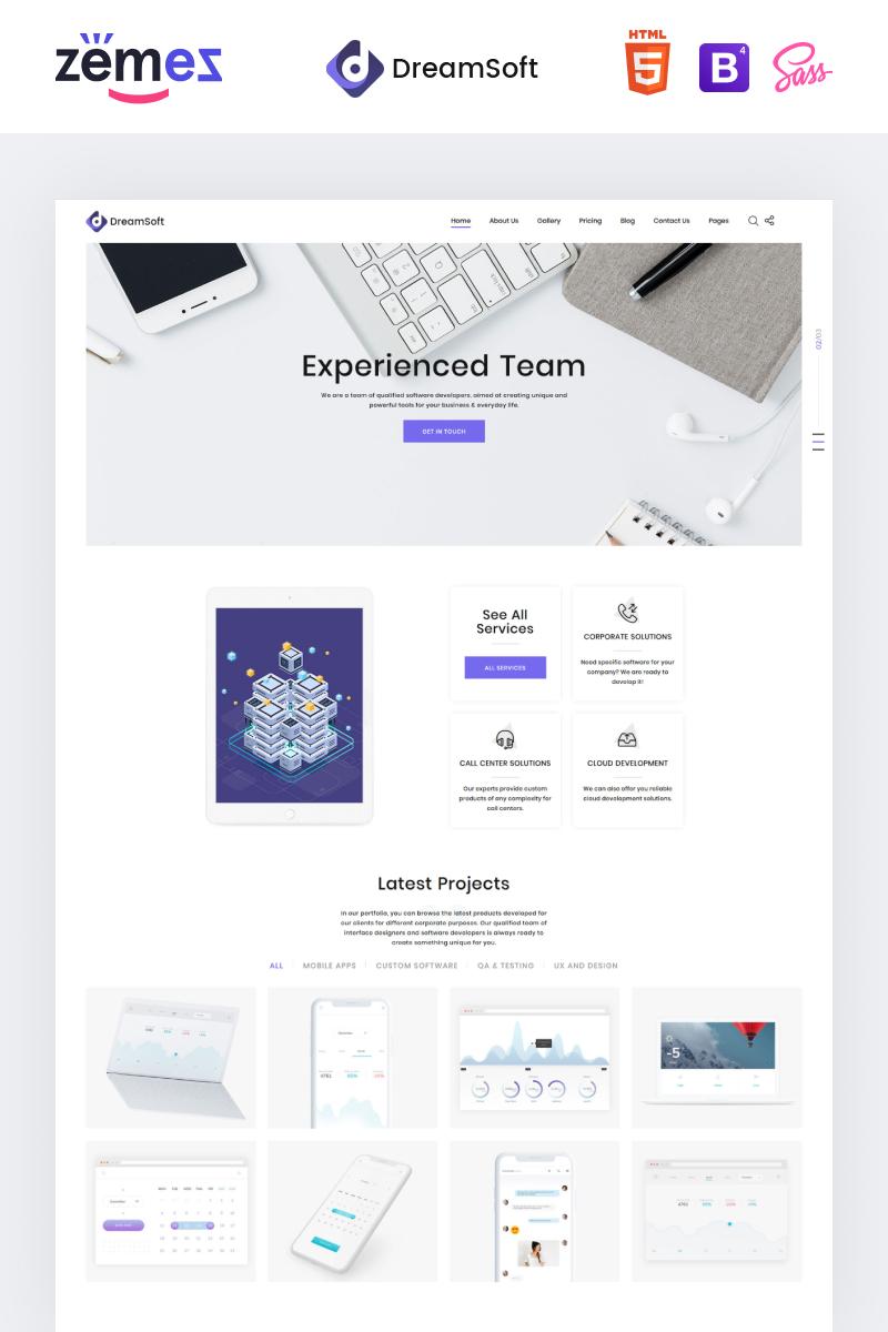 """Responzivní Šablona webových stránek """"DreamSoft - Software Development Company Multipage"""" #71028"""