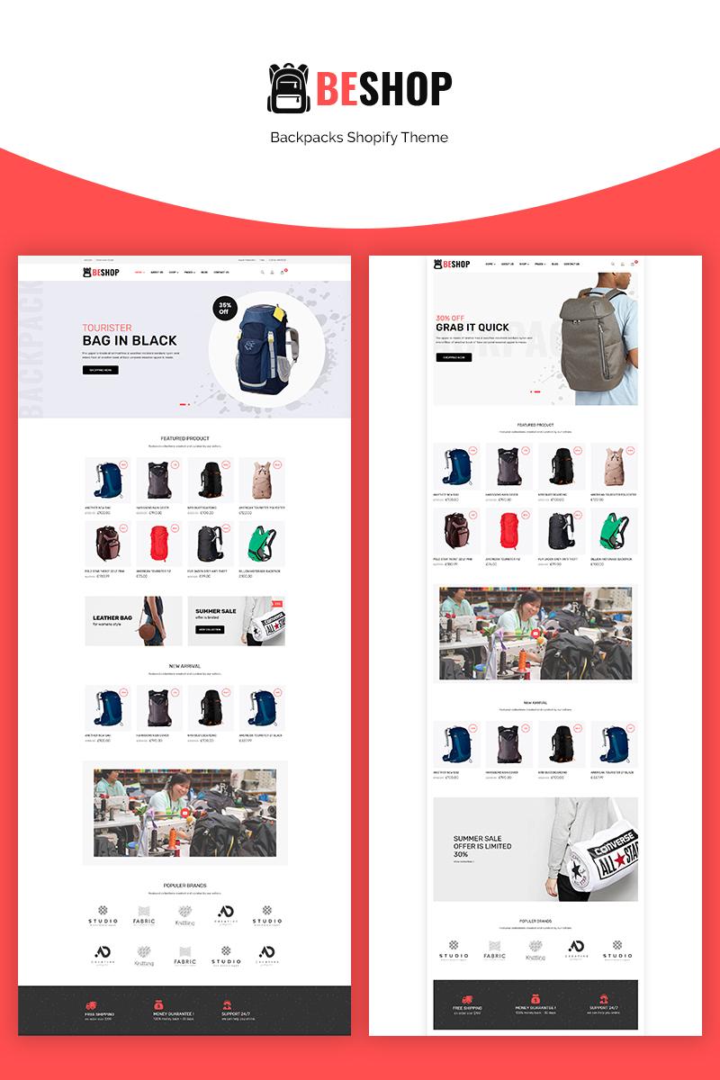 """Responzivní Shopify motiv """"Beshop - Backpacks eCommerce"""" #71061"""