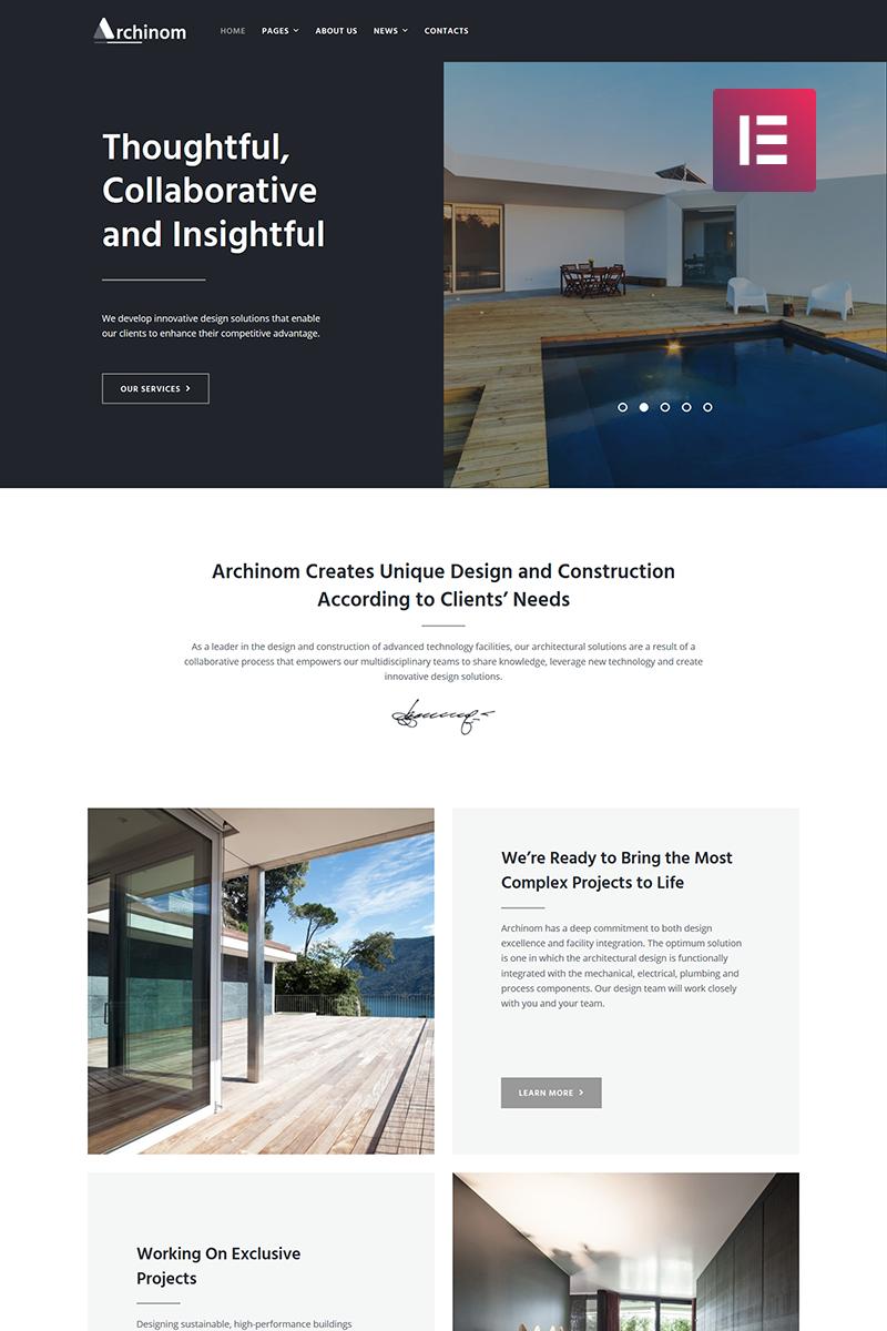 "Tema De WordPress ""Archinom - Architect Elementor"" #71007 - captura de pantalla"