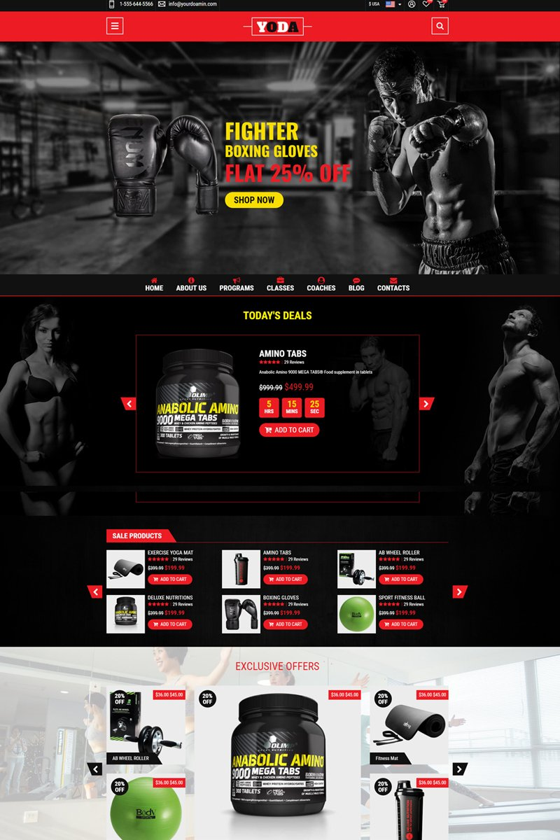 Yoda Gym Fight Landing Page Template