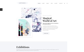 Artesma - Art Multipage Clean Joomla Template