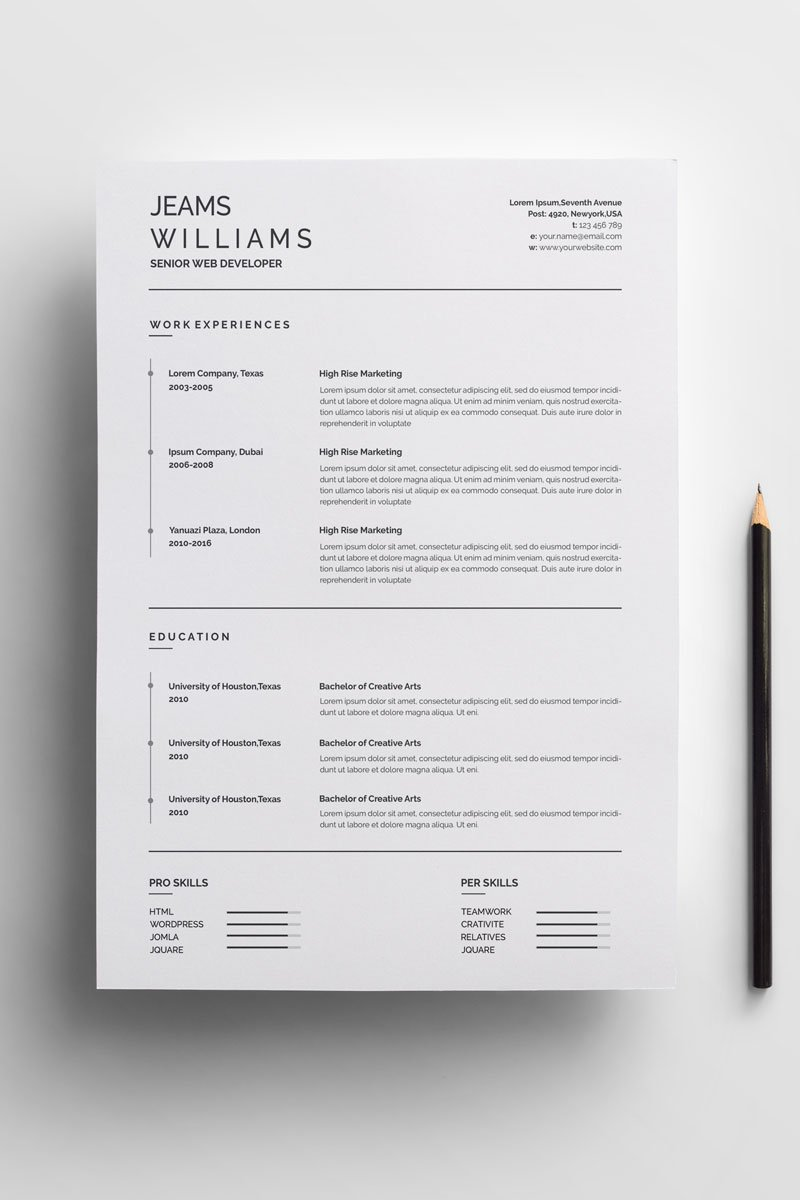 The CLEAN RESUME DESIGN WRITING COVER LETTER INSTANT DOWNLOAD FOR MAC CV TEMPLATE INFOGRAPHIC MINIMAL SWISS