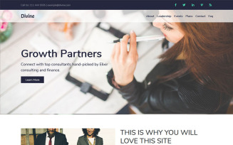 Divine - Business Consulting  HTML5 Landing Page