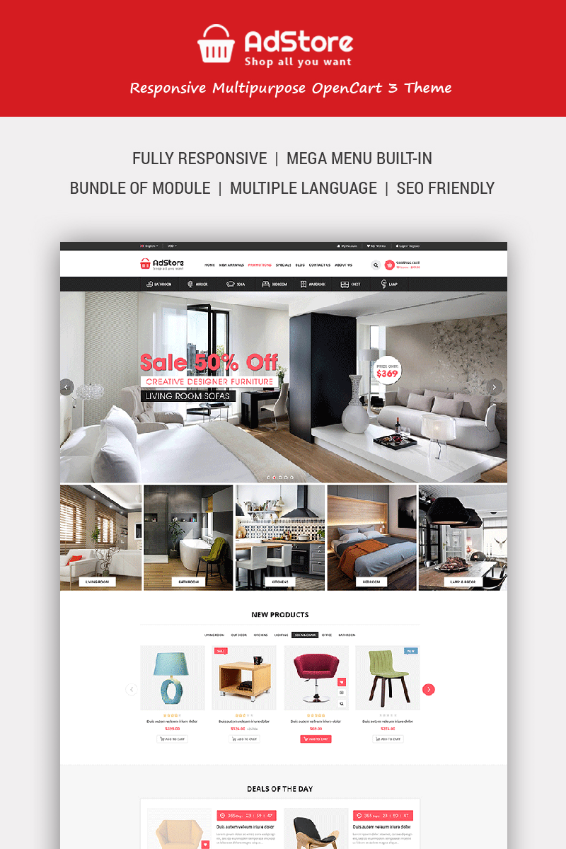 AdStore - Multipurpose Responsive OpenCart Template - screenshot