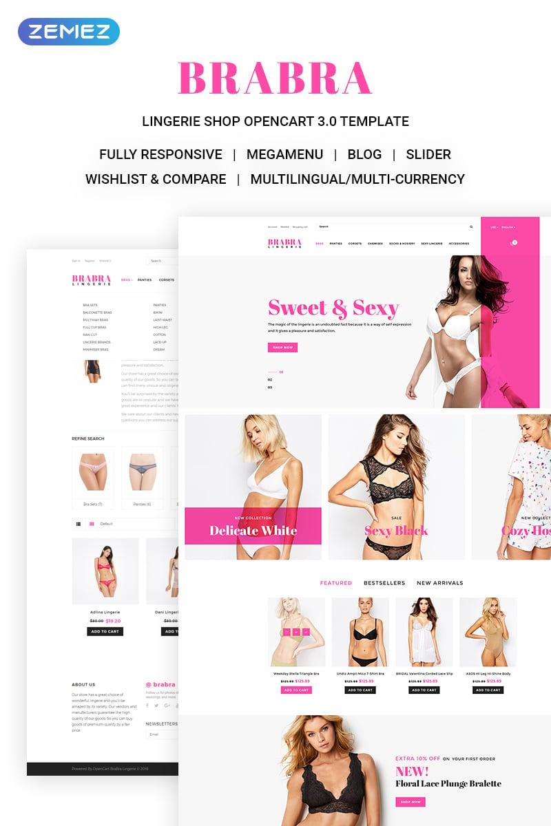 """Brabra - Beautiful Lingerie Online Store"" Responsive OpenCart Template №71129"