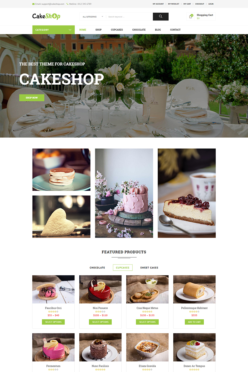 CakeShop – Responsive WooCommerce Theme - screenshot