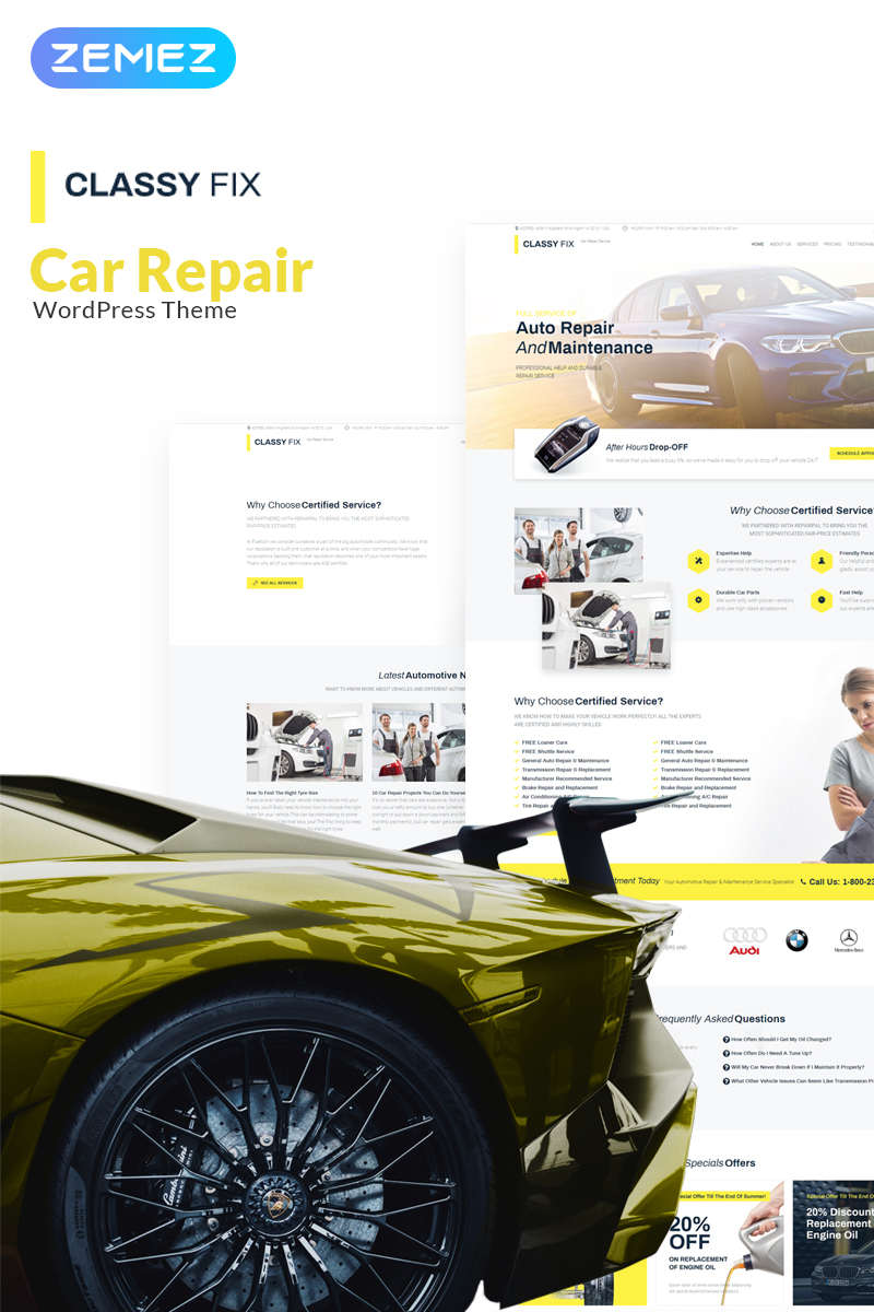 """Classy Fix - Car Repair Elementor"" thème WordPress adaptatif #71180"