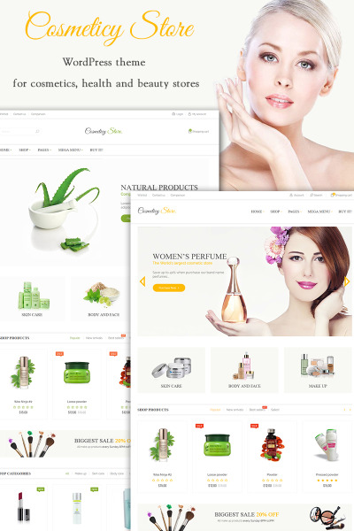 Cosmeticy Store - Cosmetic, Health and Beauty
