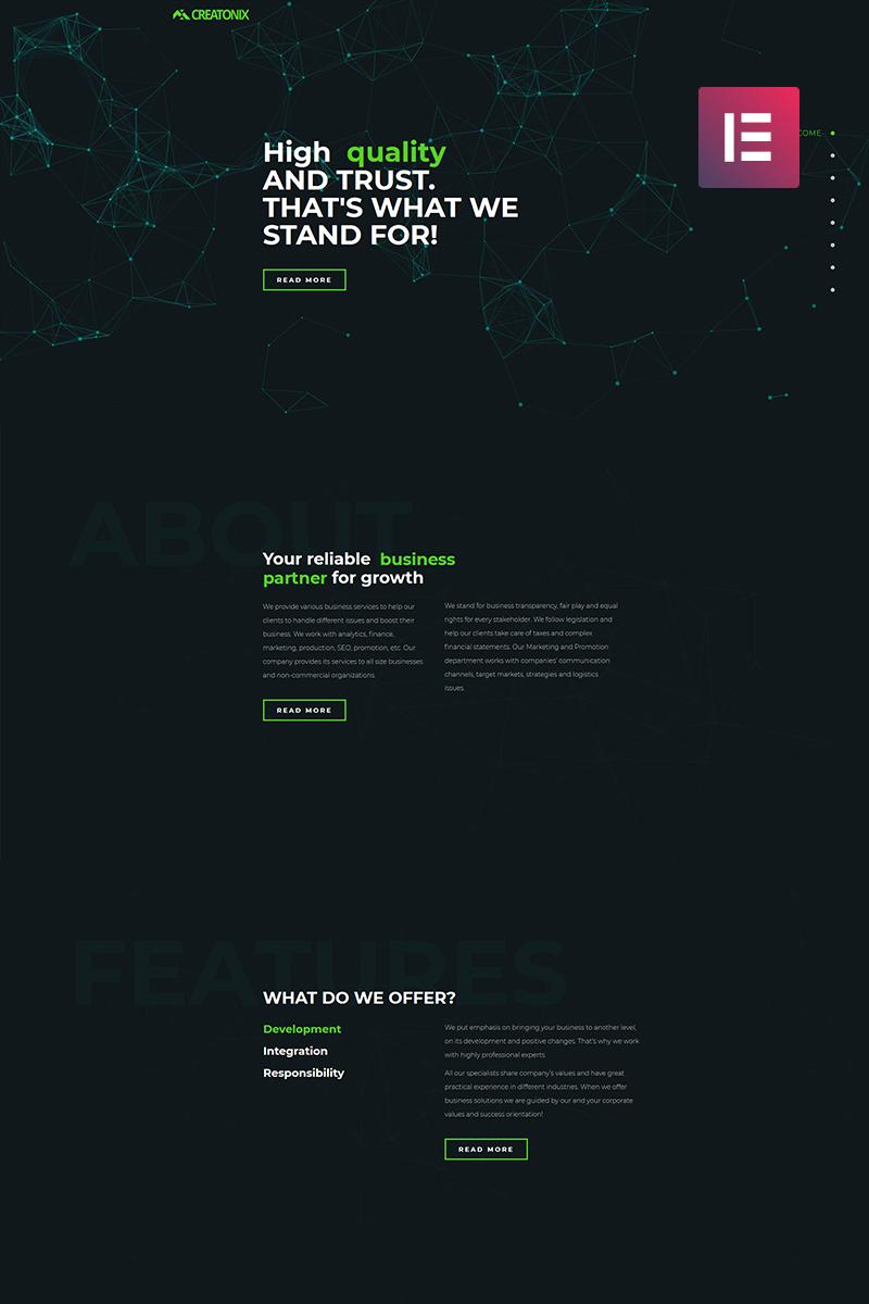 Creatonix - Landing Page Elementor WordPress Theme
