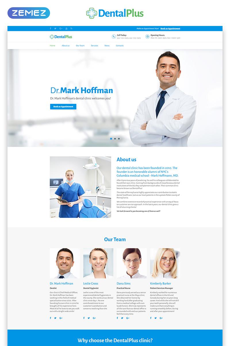 """""""DentaPlus - Accurate Dental Clinic HTML"""" 响应式着陆页模板 #71181"""