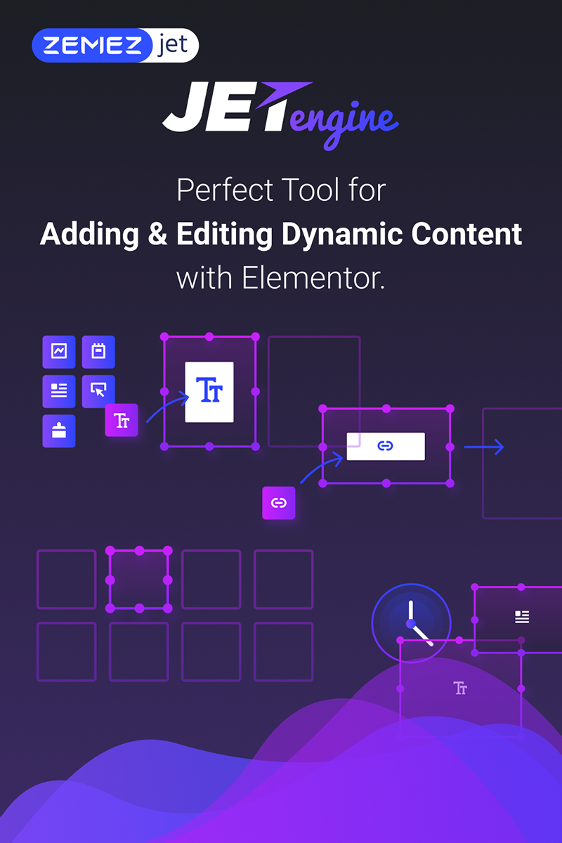"""JetEngine - Adding & Editing Dynamic Content with Elementor"" WordPress Plug-in №71125"