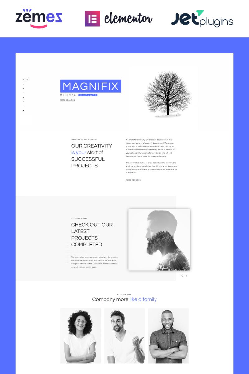 Magnifix - Minimal Parallax WordPress sablon 71198 - képernyőkép