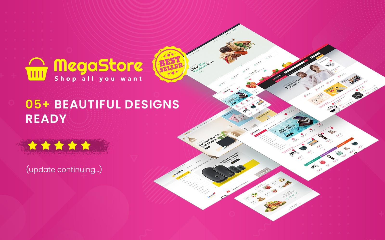 MegaStore - Multipurpose OpenCart 3.0.x Theme №71169