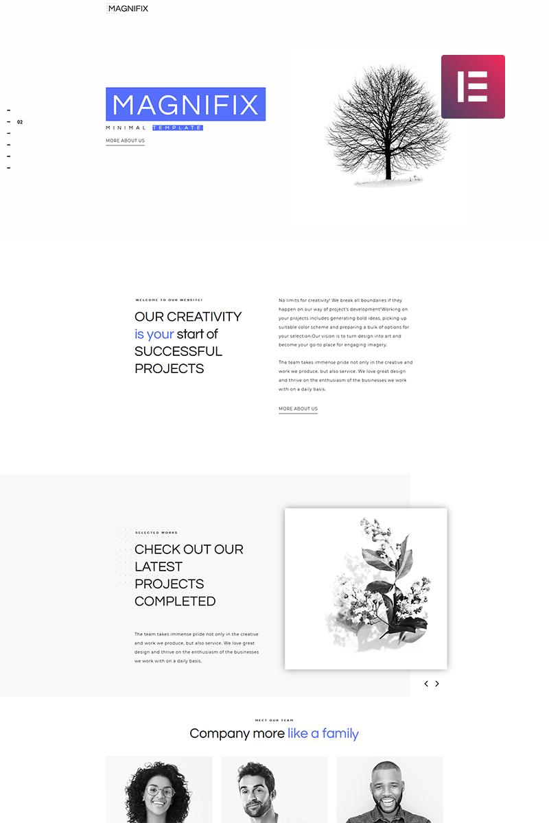"""Modello WordPress #71198 """"Magnifix - Creative Minimal Elementor"""" - screenshot"""