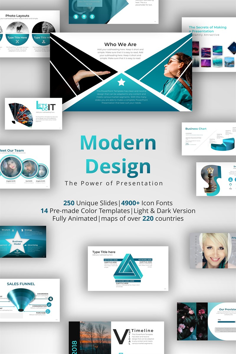 """Modern Design"" modèle PowerPoint adaptatif #71145 - screenshot"