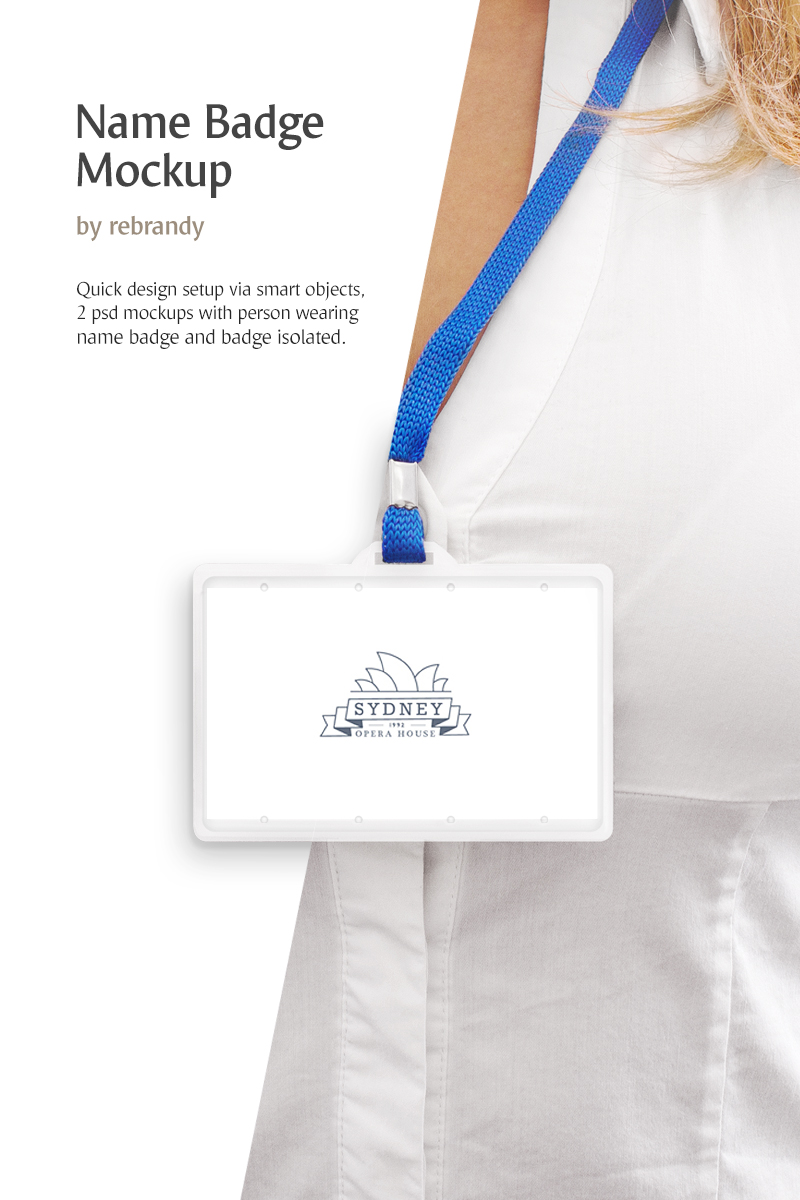 Name Badge Product Mockup