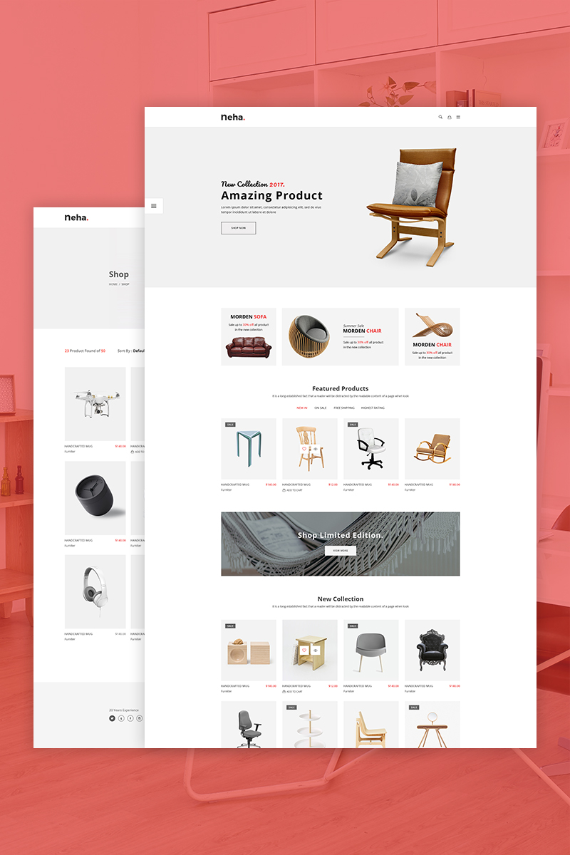 Neha - Minimal WooCommerce Theme - screenshot
