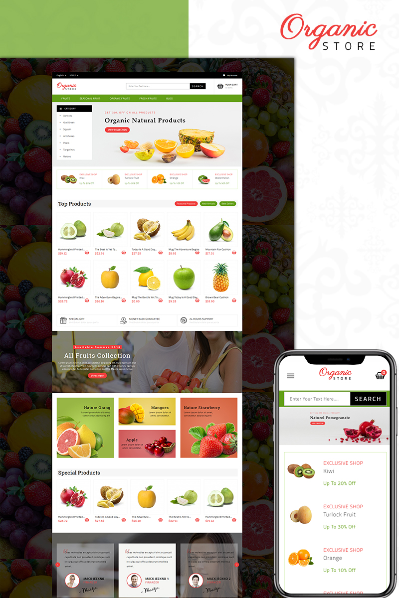 Organic Food Store PrestaShop Theme